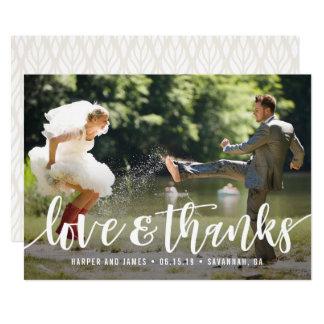 Funky Skript-Hochzeit danken Ihnen Foto-Karte Karte