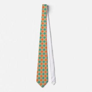 Funky Starburt aquamariner u. orange Entwurf Bedruckte Krawatten