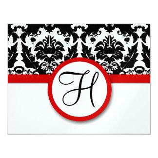 Funky u. Spaß-schwarzer Damast-rotes Karte