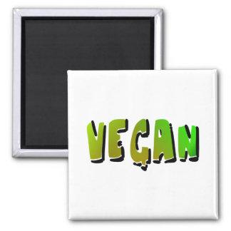 Funky veganes mit Schattierung Quadratischer Magnet