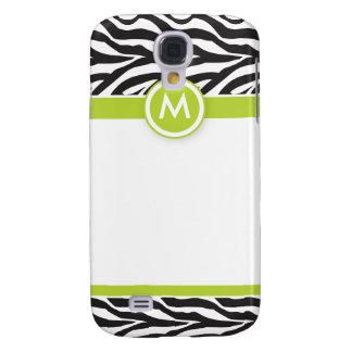 Funky Zebra 3 Limon/Schwarzes Galaxy S4 Hülle