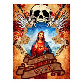 Funny Jesus Rock- Postkarte