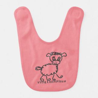 Funny Little Sheep – Lätzchen rosa