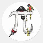 Funny Pi rate Pi Day Humor Sticker