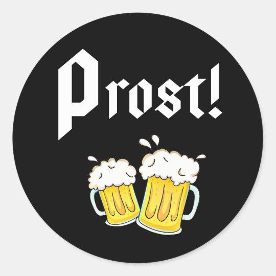 Funny Prost Beer Oktoberfest Party Runder Aufkleber