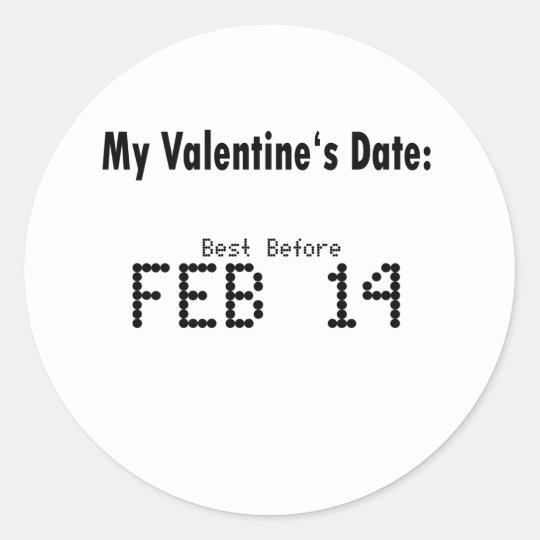 Funny Valentines Day Date - Sticker