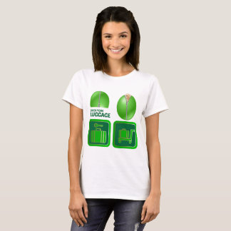 Funny Women tshirt - Check your luggage