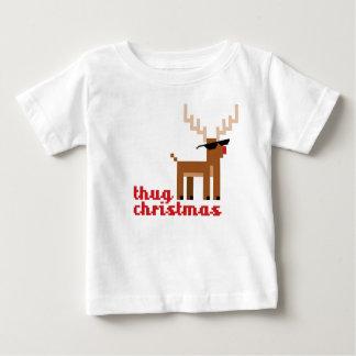 FunnyThug Leben Rudolph-Ren-Weihnachten Baby T-shirt
