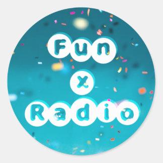FunXRadio-Sticker Runder Aufkleber