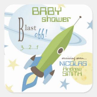 Für Baby laden Sie quadratischen Aufkleber ein