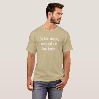 Für beste Ergebnisse Gebrauchsschaft und T-Shirt