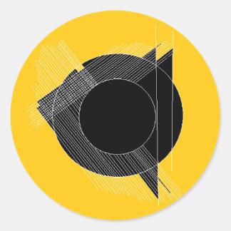 für das Protokoll (geometrischer Entwurf) Runder Aufkleber
