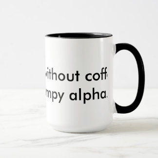 Für das trinkende Alpha des Kaffees Tasse
