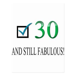 Für den 30. Geburtstag Postkarte