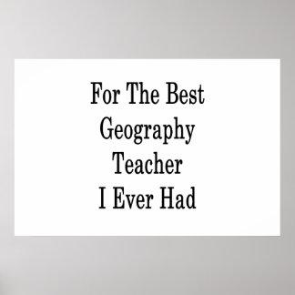 Für den besten Geografie-Lehrer hatte ich Poster