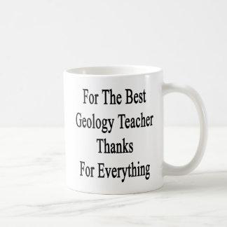 Für den besten Geologie-Lehrer-Dank für alles Kaffeetasse
