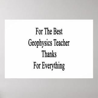 Für den besten Geophysik-Lehrer-Dank für Everyth Poster
