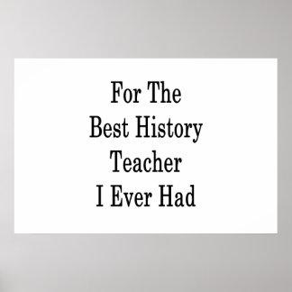 Für den besten Geschichtslehrer hatte ich Poster