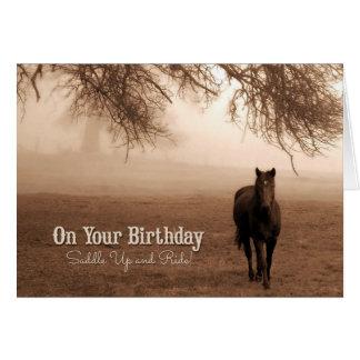 für den Geburtstag des Cowgirls - lustiges Grußkarte