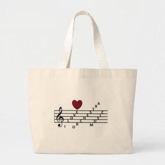 Für den orchistra Musikfreund Jumbo Stoffbeutel