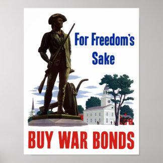 Für der Grund-Kauf-Kriegs-Bindungen der Freiheit Poster