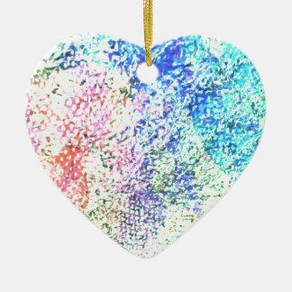 Für die Liebe der Farbe - Kaleidoskop-Pastell Keramik Herz-Ornament
