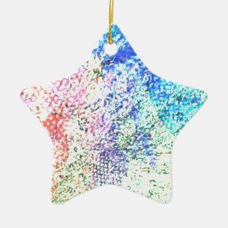 Für die Liebe der Farbe - Kaleidoskop-Pastell Keramik Stern-Ornament