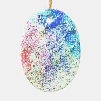 Für die Liebe der Farbe - Kaleidoskop-Pastell Ovales Keramik Ornament