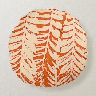 Für die Liebe der Natur - Orange Rundes Kissen