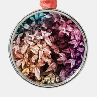 Für die Liebe des Gebens - multi Blumen Silbernes Ornament