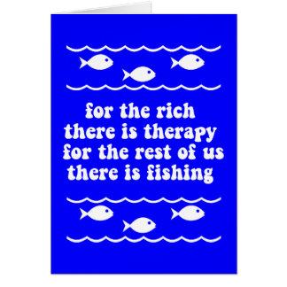 Für die Reichen gibt es Therapie Grußkarte