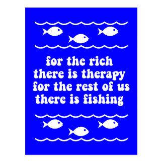 Für die Reichen gibt es Therapie Postkarte