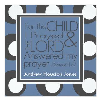Für dieses Kind betete ich Geburts-Mitteilung Quadratische 13,3 Cm Einladungskarte