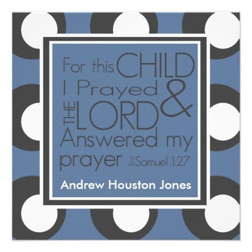 Für dieses Kind betete ich Geburts-Mitteilung Individuelle Ankündigung