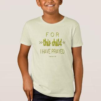 Für dieses Kind habe ich, Limoner grüner T-Shirt