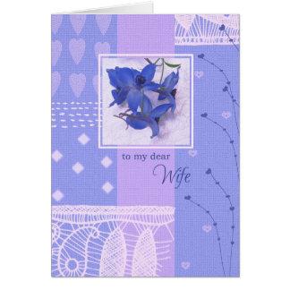 Für Ehefrau auf Gruß-Karten der Mutter Tages Grußkarte