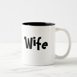 Für Ehefrau - Kaffeetasse/Tasse Zweifarbige Tasse