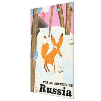 Für ein Abenteuer Russland-Reiseplakat Leinwanddruck