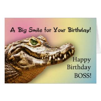 Für einen Chef eine Geburtstagskarte mit einem läc Karten