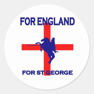 Für England für St George Runde Sticker