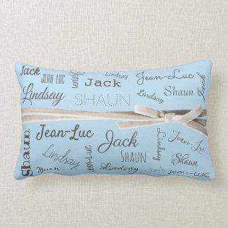 Für Enkelkind-Namen-Collage der Großmutter-  Lendenkissen