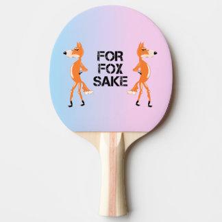Für Fox-Grund, der Füchse argumentiert Tischtennis Schläger