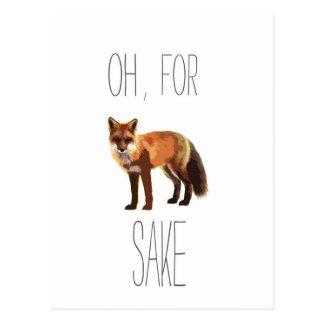 Für Fox-Grund-künstlerischen Ausschnitt Postkarte