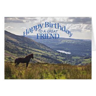 Für Freund eine Pferde- und Karte