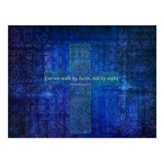 Für gehen uns durch Glauben, nicht durch Anblick. Postkarte