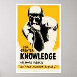 Für größeres Wissen Posterdruck