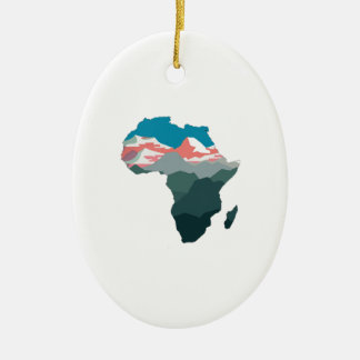 FÜR GROSSES AFRIKA OVALES KERAMIK ORNAMENT