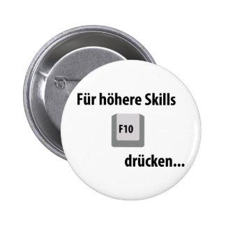 Für höhere Fähigkeiten F 10 drücken entgegengesetz Runder Button 5,1 Cm
