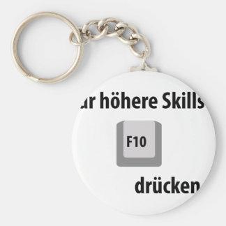 Für höhere Fähigkeiten F 10 drücken entgegengesetz Standard Runder Schlüsselanhänger