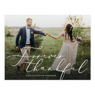 Für immer dankbar danke Postkarte